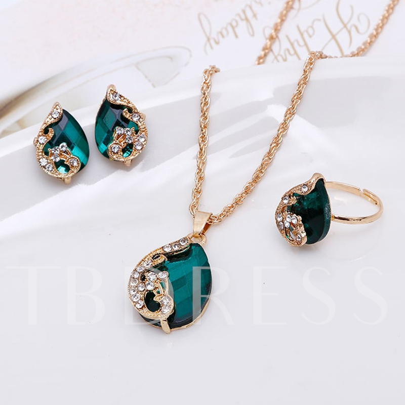 Diamante Artificial Crystal Popcorn Chain Jewelry Sets