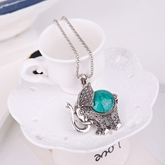 Green Turquoise Elephant Alloy Jewelry Sets