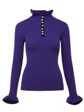 Pullover Plain Turtleneck Women's Sweater
