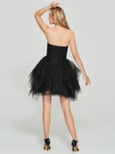 Sweetheart Ball Gown Appliques Short Homecoming Dress