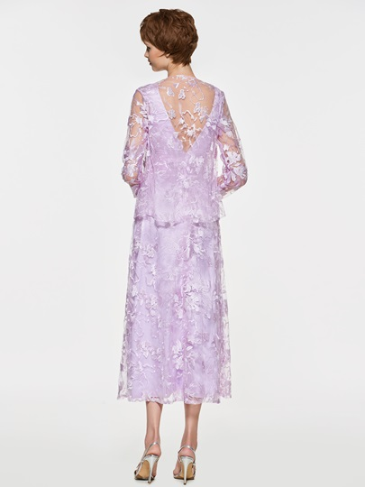 Lace Tea-Length Mother of the Bride Dress with Jacket