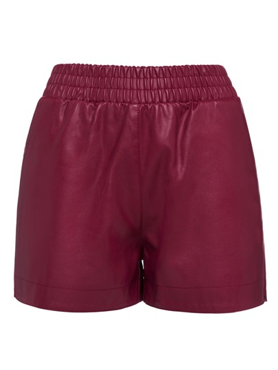 PU High-Waist Elastics Women's Shorts