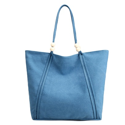 Large Capacity Beads Decoration Canvas Tote