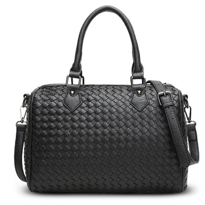 All Match Solid Color Knitted Pattern Tote