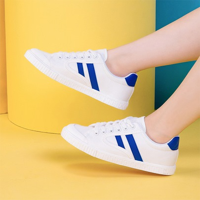 Canvas Color Block Patchwork Women's Casual Sneakers Shoes