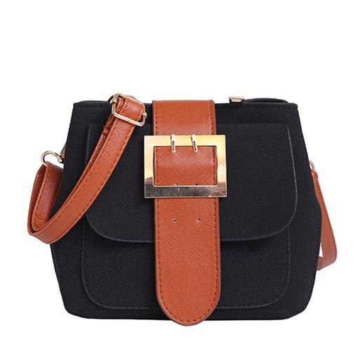Color Block Belt-Decoration Cross Body Bag