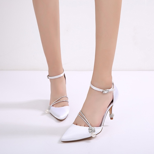 Stiletto Heel Beads Rhinestone Wedding Shoes For Women