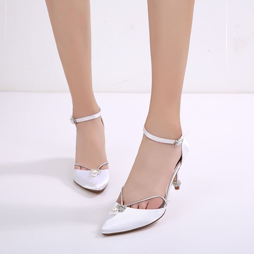 Wedding Shoes Beads Rhinestone Stiletto Heel Women's Pumps