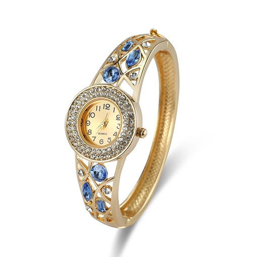 Diamante Full Drill Sapphire-Shaped Inlaid Lady Watch