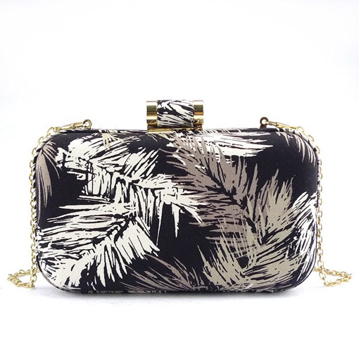 Vintage Print Design Evening Clutch
