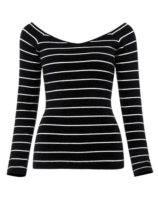 Stripe Slim Fit Warm Women's Sweater