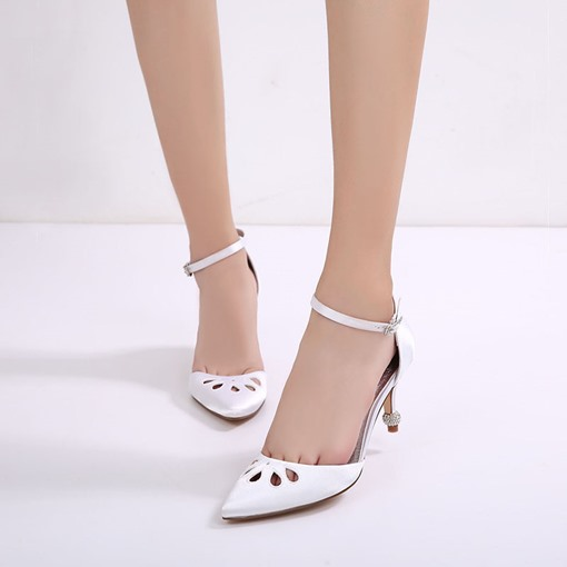 Hollow Buckle High Stiletto Heel Shoes For Wedding