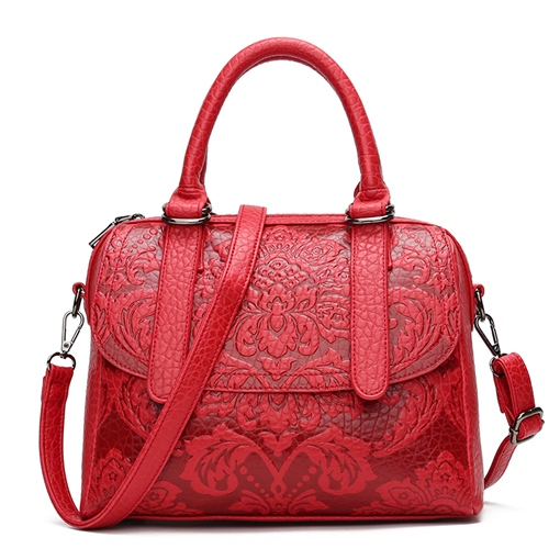 Occident Style Floral Embossing Women Tote