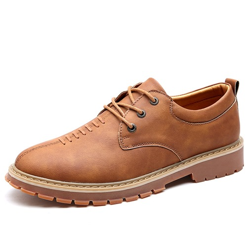 Lace-Up Thread Sewing Men's Loafers