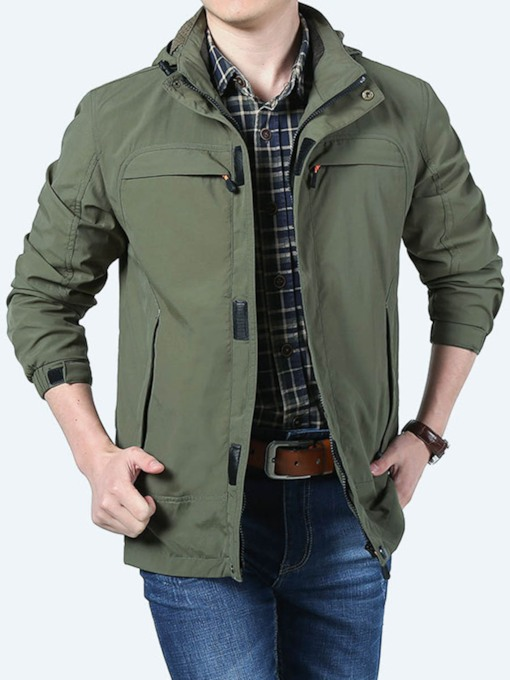 Nylon Lightweight Traveling Solid Single Male Tops
