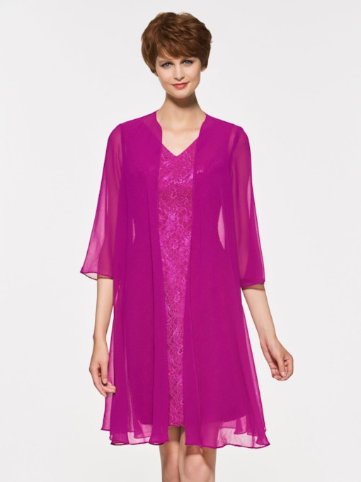Lace Sheath Mother of the Bride Dress with Jacket