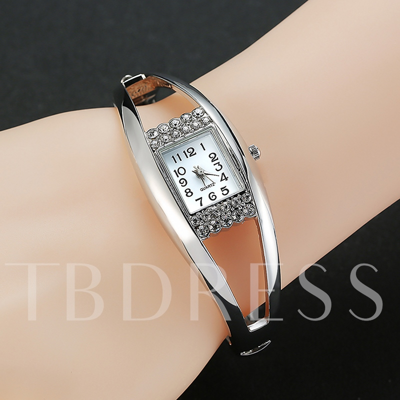 Simple Diamante Alloy Full Drill Quartz Watch