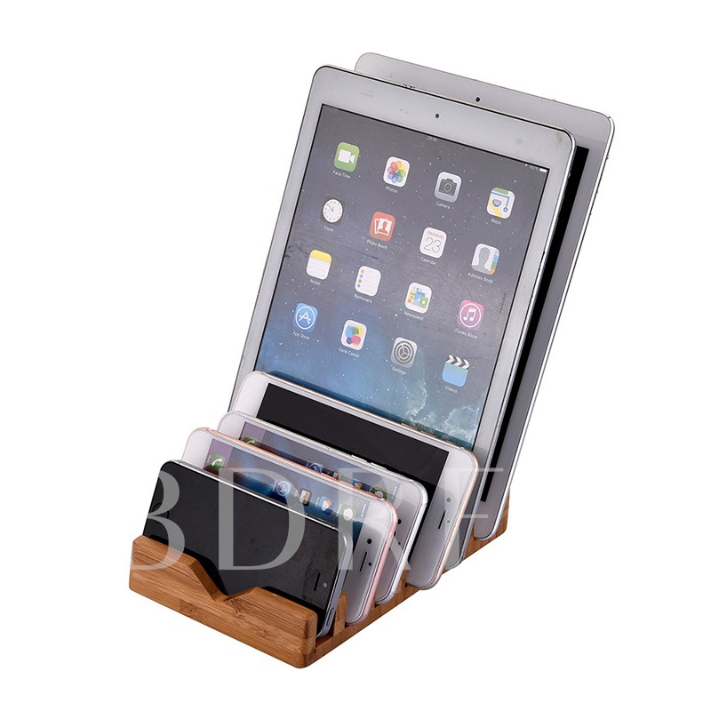 Wooden Cell Phone & Tablet Stand for iPhone X/8/8plus/iPad/iPod