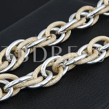 Overgild Alloy Combination Link Chain Hyperbole Necklace