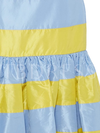 Stripe Color Block High-Waist Women's Mermaid Skirt
