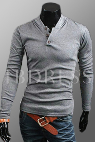 Solid Color V-Neck Long Sleeve Hoodie