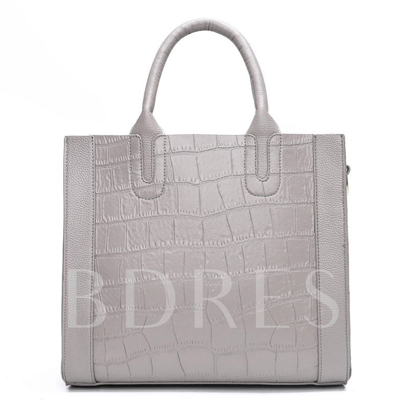 Concise Alligator Print Tote Bag