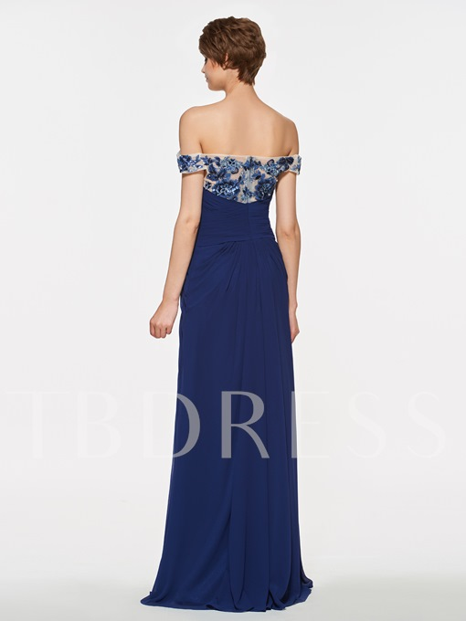Sequined Appliques Mother Of The Bride Dress