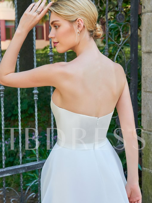 Strapless A-Line Bowknot Wedding Dress