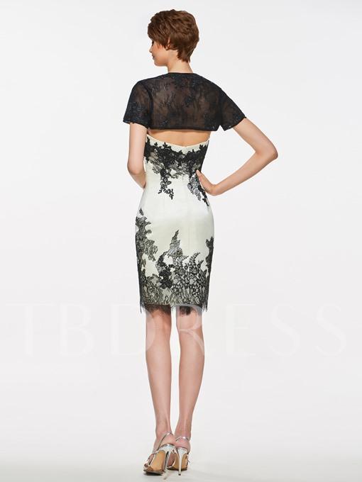 Strapless Appliques Sheath Mother Of The Bride Dress