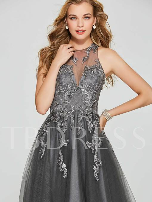 Jewel A-Line Appliques Lace Short Homecoming Dress