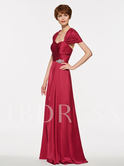 Sweetheart Ruched Beading A-Line Mother Of The Bride Dress