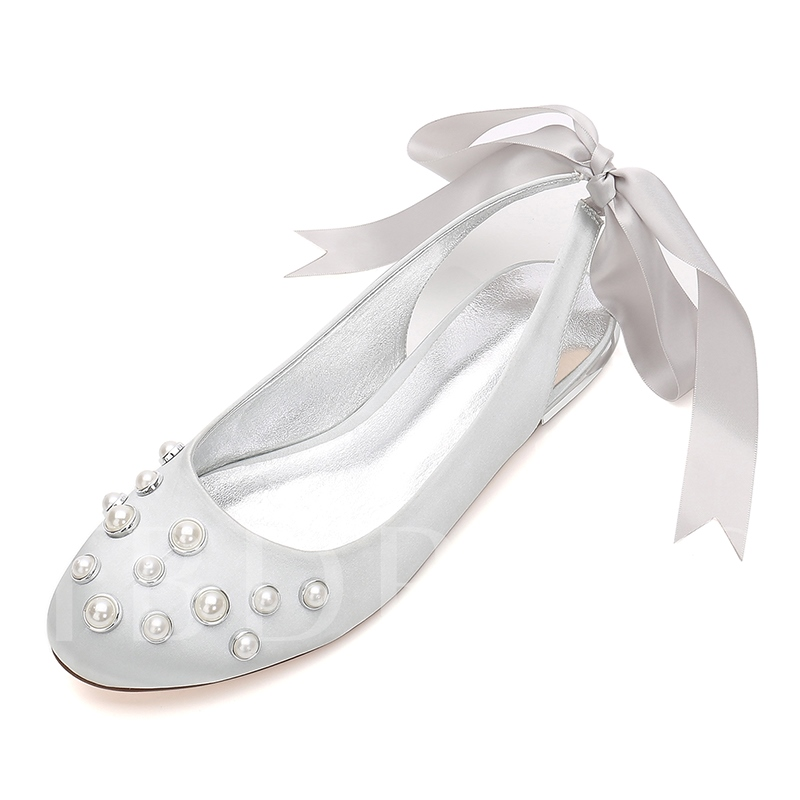 Lace-Up Beads Slingback Strap Women's Shoes For Wedding