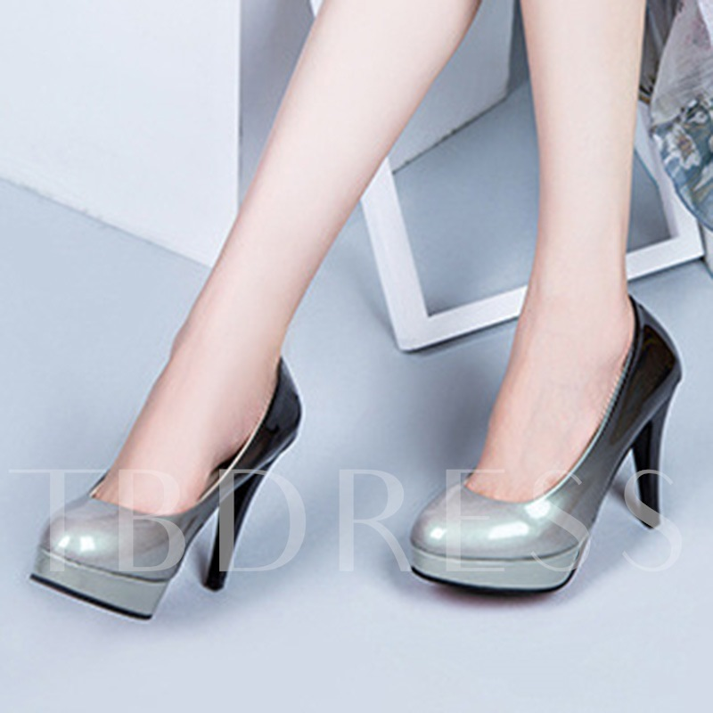 Stiletto Heel Gradient Slip-On Cowheels Women's Dress Shoes