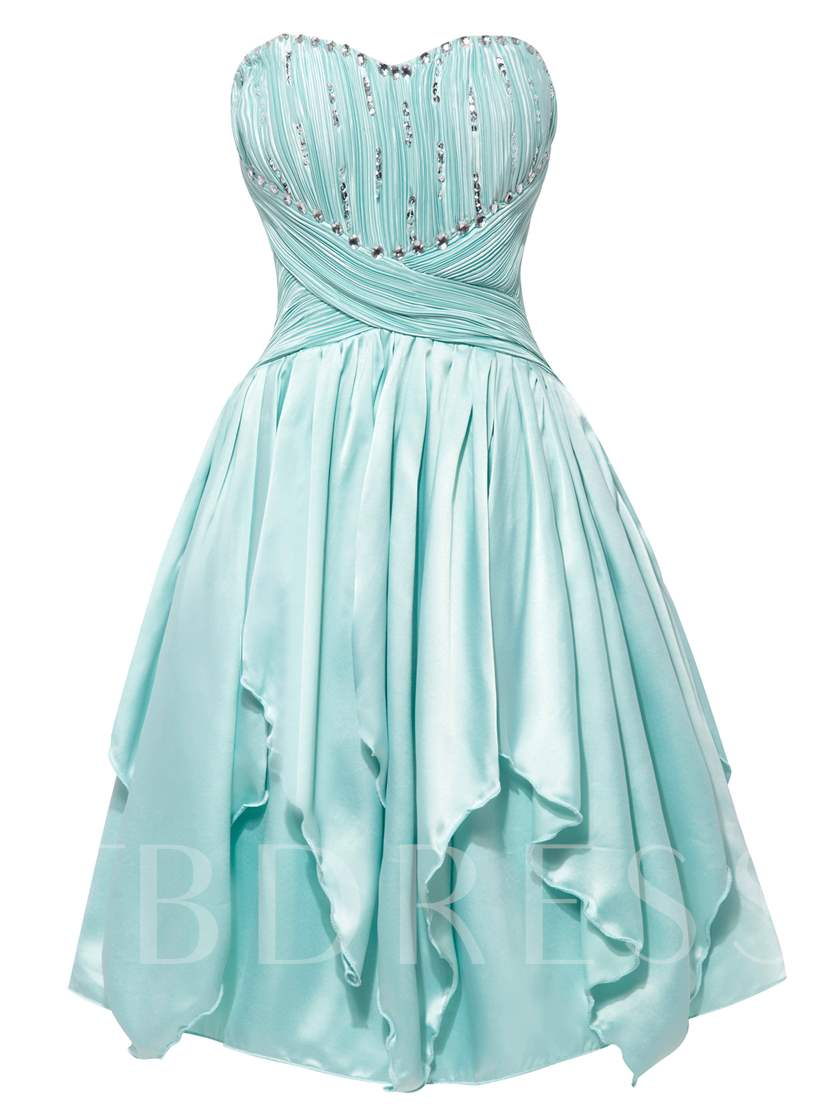 Sweetheart Lace-Up A Line Homecoming Dress