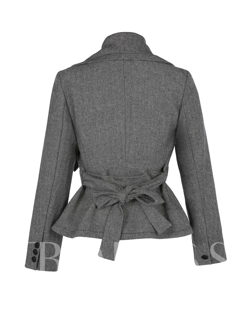 Unregelmäßiger Saum lace-up Damenjacke