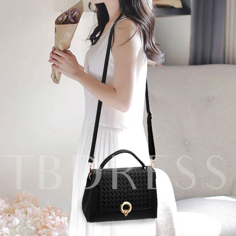 Simplicity Embroidery Solid Color Tote Bag