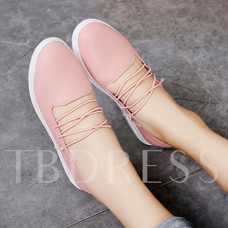 Flat With Round Toe Strappy Women's Flats Shoes