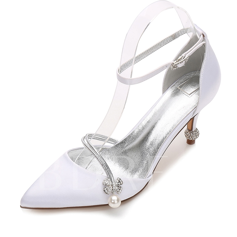 Buy Stiletto Heel Beads Rhinestone Wedding Shoes For Women, Spring,Summer,Fall, 12939686 for $51.99 in TBDress store