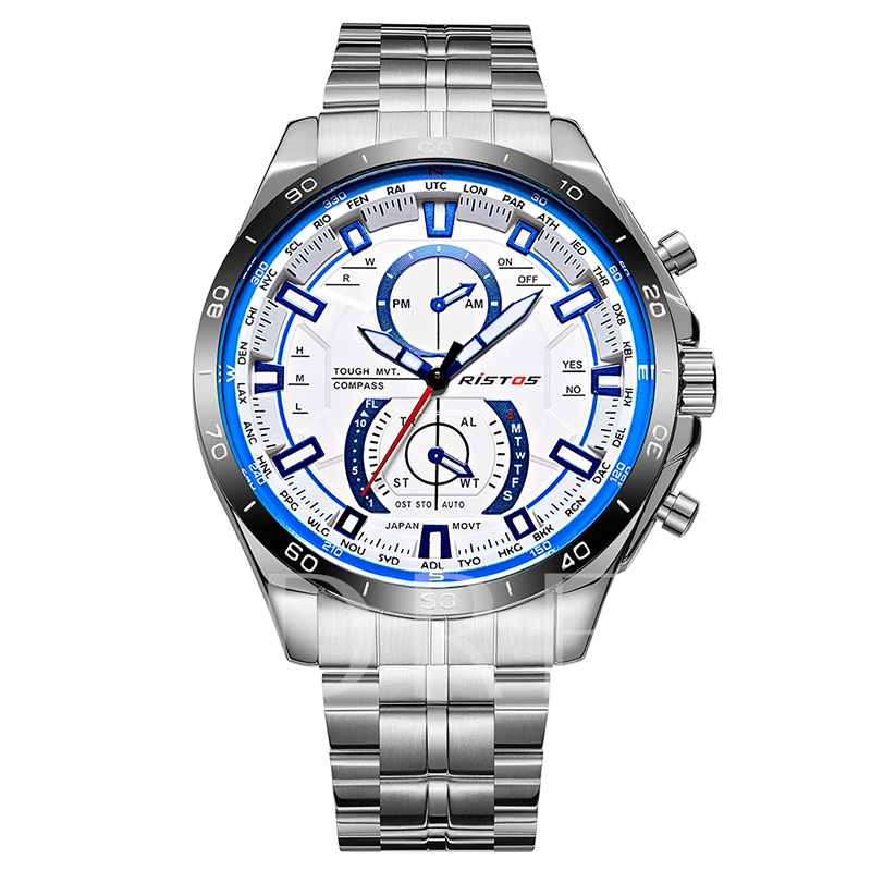 Stainless Steel Analogue Display Luminous Quartz Men's Watches