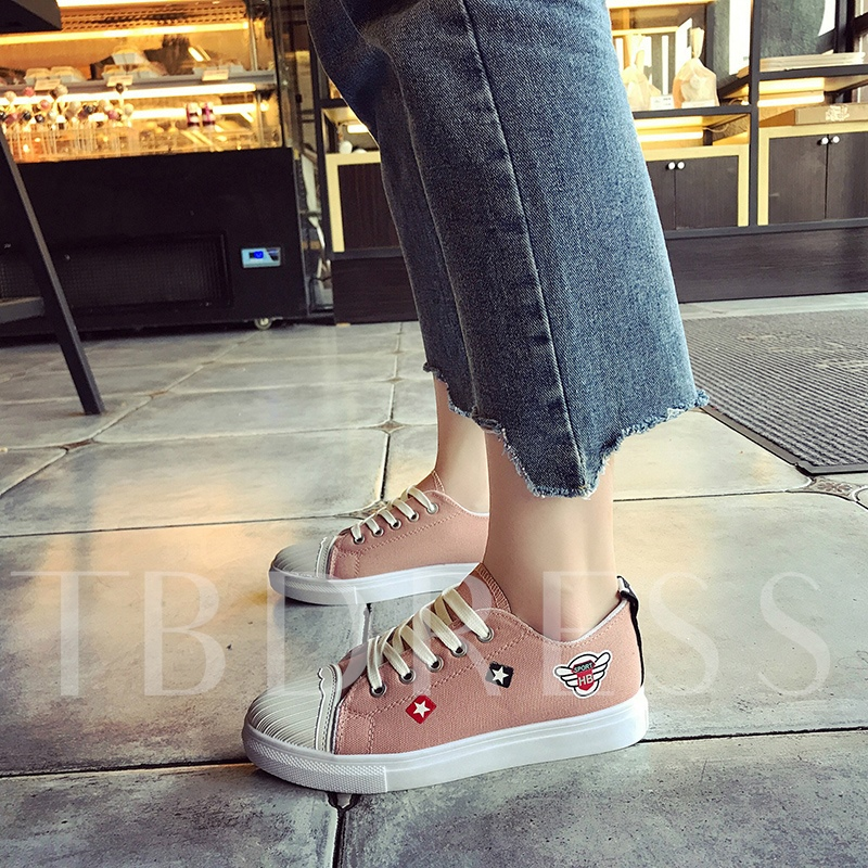 Color Block Cartoon Print Women's Platform Shoes