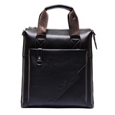 Business Style Plain PU Men's Bag