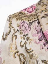 Floral Embroidery Shawl Collar Women's Blazer