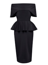 Double-Layered Off Shoulder Women's Sheath Dress