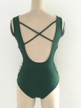 V-Neck Hollow Backless One Piece Swimsuit