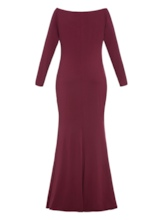 Plus Size Open Shoulder Mermaid Long Sleeve Women's Maxi Dress