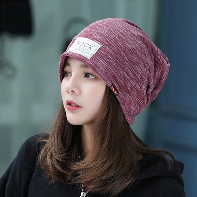 Cotton Elasticity Fine-Grained Fall Hats