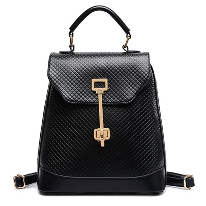 Causal Quilted Lining Design PU Backpack