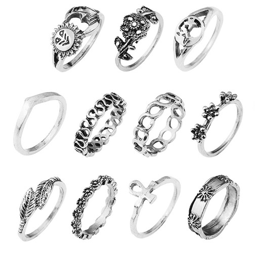 Gold Plated Silver Plated Retro Joint Knuckle Ring