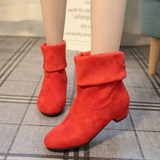 Plain Fashion Boots Purfle Short Floss Women's Casual Shoes