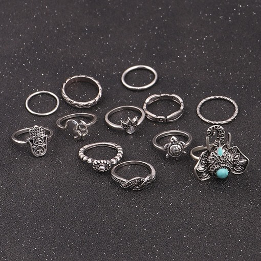Elephant Turtle Claw Alloy Overgild Silver Plated Knuckle Ring